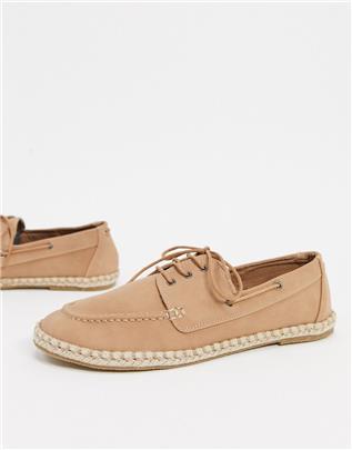 New Look - Canvas schoenen in crème-Groen