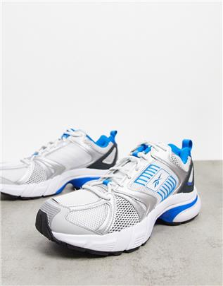 Reebok Classics - Premier - Sneakers in zilver and blauw