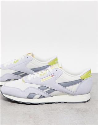 Reebok - Klassieke nylon sneakers in krijtwit
