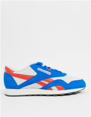 Reebok - Classic - Nylon sneakers in blauw
