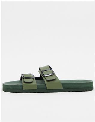 Brave Soul - Ultralichte slippers in kaki-Groen