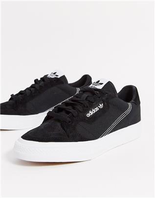 adidas Originals - Continental Vulc - Sneakers in zwart
