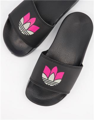 adidas Originals - Adilette Lite - Slippers in zwart-Wit