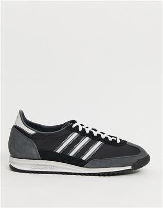 adidas Originals - SL 72 - Sneakers in zwart met wit