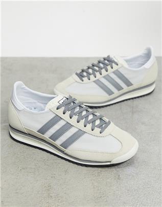 adidas Originals - SL 72 - Sneakers in wit en grijs