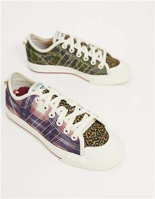 adidas Originals - Nizza - Sneakers met ruitpatroon-Multi
