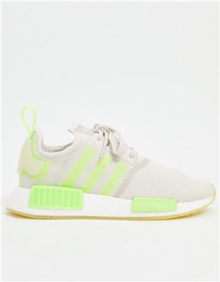 adidas Originals - NMD_R1 - Sneakers in gebroken wit en geel