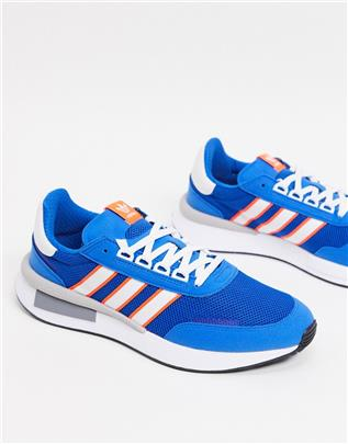 adidas Originals - Retroset - Sneakers in blauw-Paars
