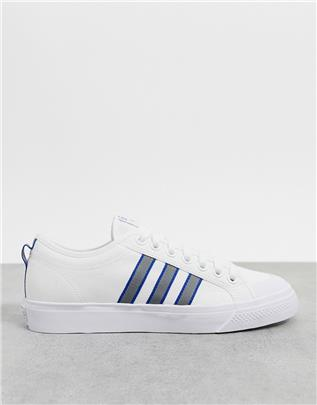 adidas Originals - Nizza - Sneakers in wit-Paars