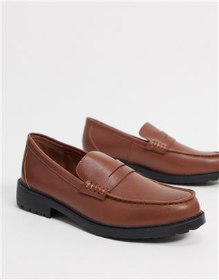 Rule London - Tyler - Loafers met dikke zool in bruin