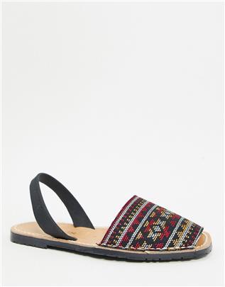 Solillas - Menorcan - Sandalen met geometrische print-Meerkleurig