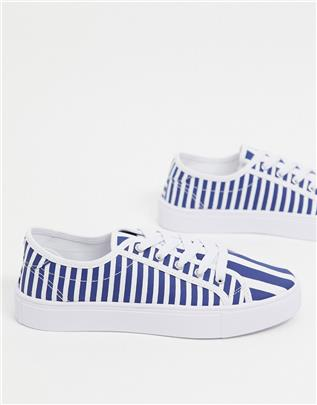 ASOS DESIGN - Dizzy - Gesteepte sneakers met veters-Multi