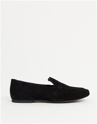 ASOS DESIGN - Mouse - Suède loafers in zwart
