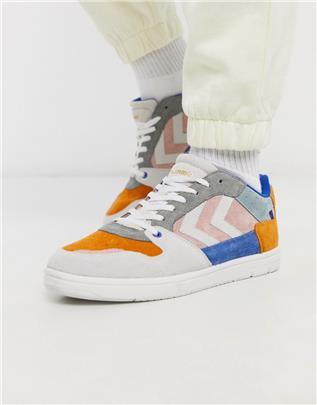 Hummel - Hive Power Play - Suède sneakers in verschillende kleuren-Meerkleurig