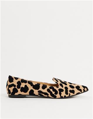 Qupid - Platte schoenen met luipaardprint-Multi