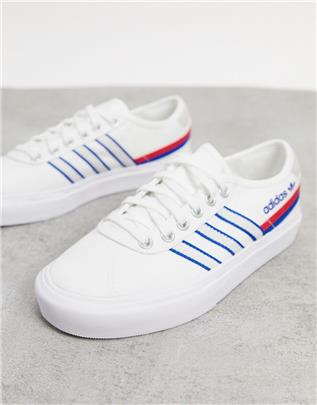 adidas Originals - Delpala - Sneakers in wit en blauw