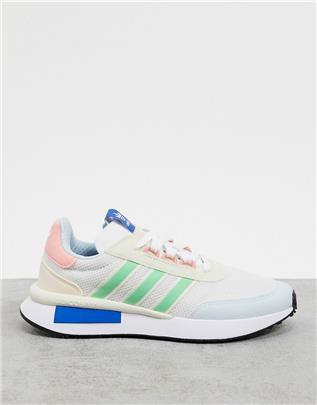 adidas Originals - Retroset - Sneakers in wit en groen