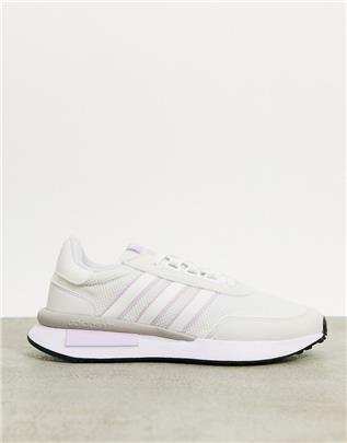 adidas Originals - Retroset - Sneakers in wit en paars