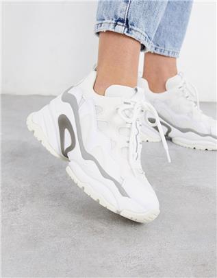 Ash - Bang sneakers met dikke zool in wit