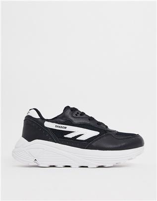 Hi-Tec - Shadow RGS - Sneakers met Vibram-zool in zwart en wit-Beige