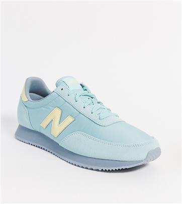 New Balance - 720 - Sneakers in blauw/geel, exclusief bij ASOS