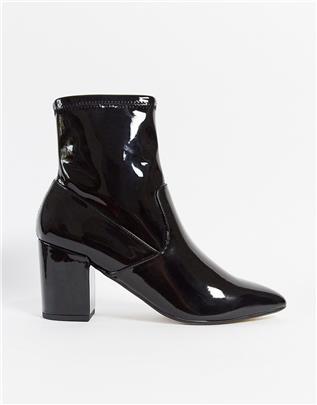 Call It Spring - Olalissa - Sock boots met hak in zwart