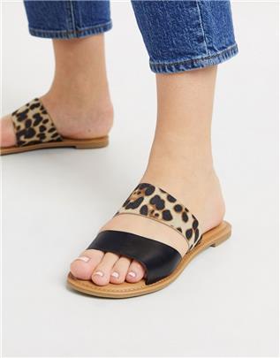 Call It Spring - Brosna - Platte sandalen met luipaardprint-Multi