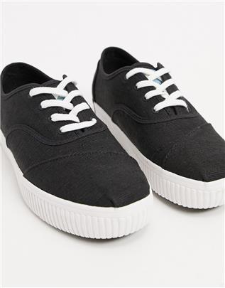 TOMS - Cordones Indio - Vegan sneakers met plateauzool in zwart