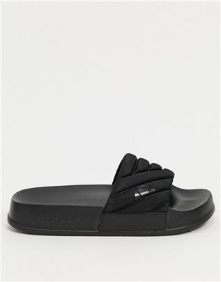 Ellesse - Filippo - Doorgestikte slippers in zwart