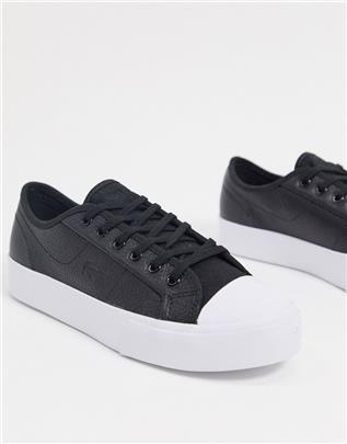 Lacoste - Ziane - Leren sneakers met veters in zwart