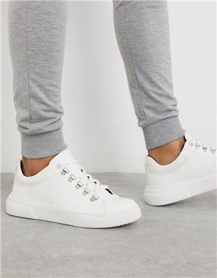 Topman - Sneakers met dikke zool in wit-Geel