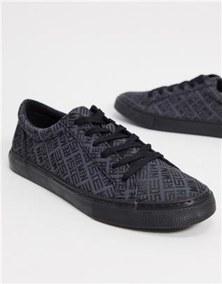 ASOS Design - Sneakers met zwart-wit design-Grijs