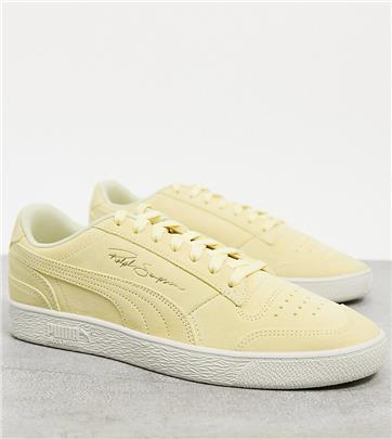 Puma - Ralph Sampson - Suède sneakers met rubberen zool in geel, exclusief bij ASOS