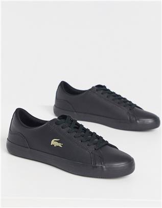 Lacoste - Lerond - Sneakers met gouden krokodillenlogo in zwart