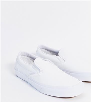 Vans Classic - Instapsneakers van wit imitatieleer, exclusief bij ASOS