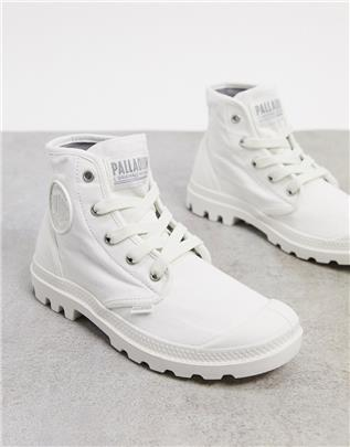Palladium - Pampa Hi - Enkellaarzen met veters in wit