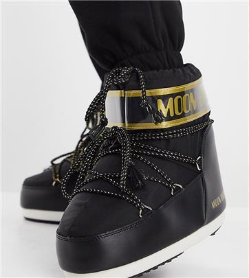 Moon Boot - Exclusive - Klassieke lage snowboots in zwart en goud