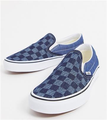 Vans Classic - Instapsneakers van denim-mix - Exclusief bij ASOS-Blauw