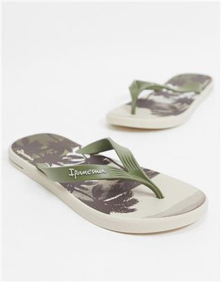 Ipanema - Posto Palm - Teenslippers in kaki-Groen