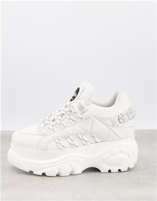 Buffalo - Letty - Klassieke sneakers met dikke zool in wit