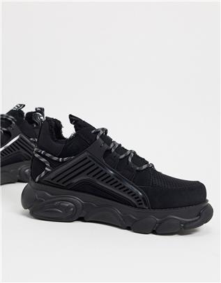 Buffalo - cld hiker - Veganistische sneakers met dikke zool in zwart
