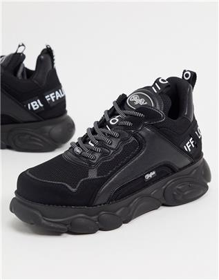Buffalo - cld chai - Veganistische sneakers met dikke zool in zwart