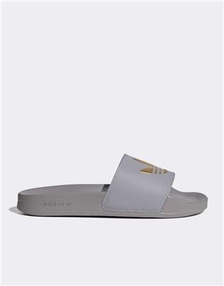 adidas Originals - Adilette Lite - Slippers in grijs