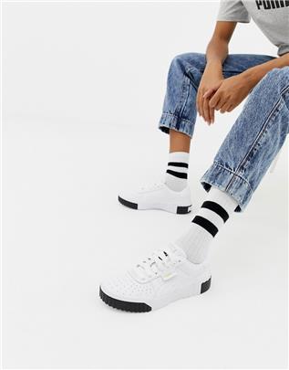 Puma - Cali - Sneakers in wit en zwart
