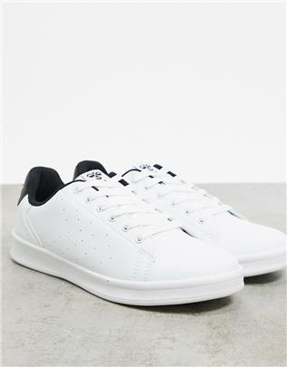 Hummel - Hive Busan - Sneakers in wit met zwarte hak