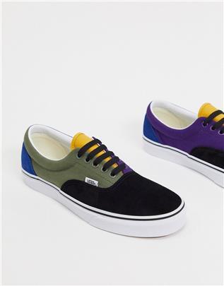 Vans - Era - Sneakers in zwart met wit-Multi