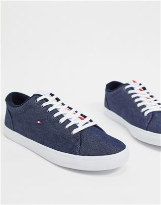 Tommy Hilfiger - Vetersneakers in marineblauw