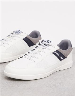 Jack & Jones - Sneakers met zijstreep en logo in wit