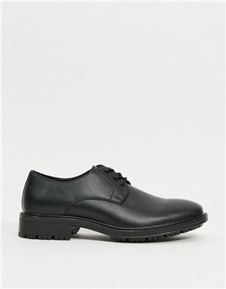 Jack & Jones - Derby schoenen van imitatieleer in zwart