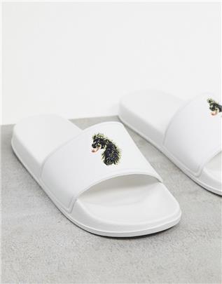 Luke Reign - Slippers met textuur-Wit